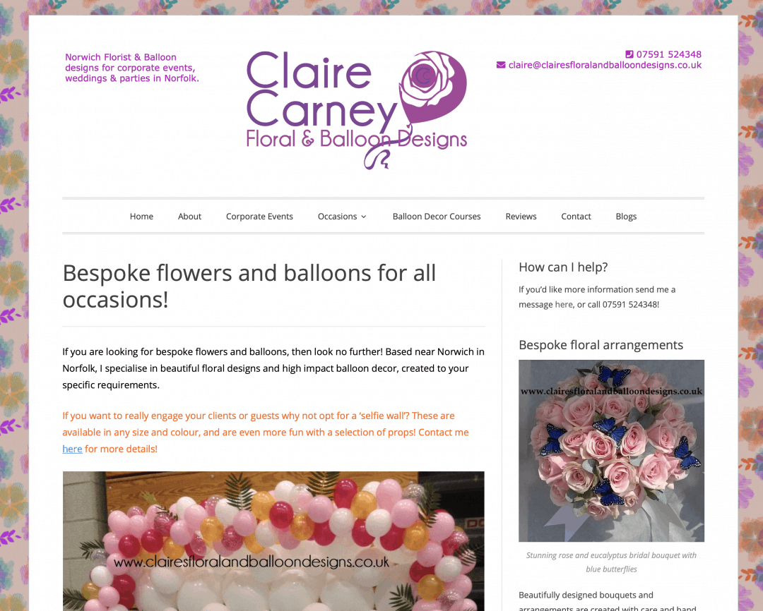 Claire Carney Norwich SEO Project