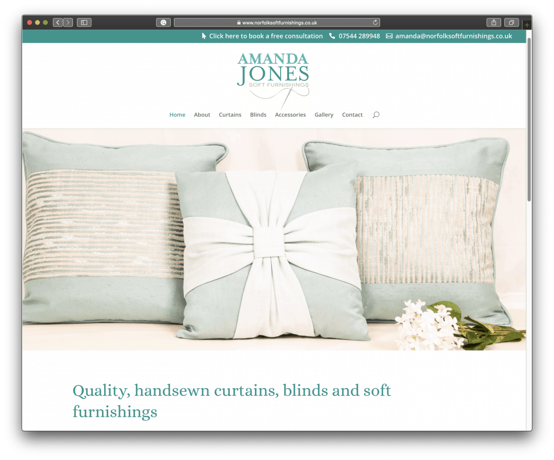 Norfolk Soft Furnishing New Website