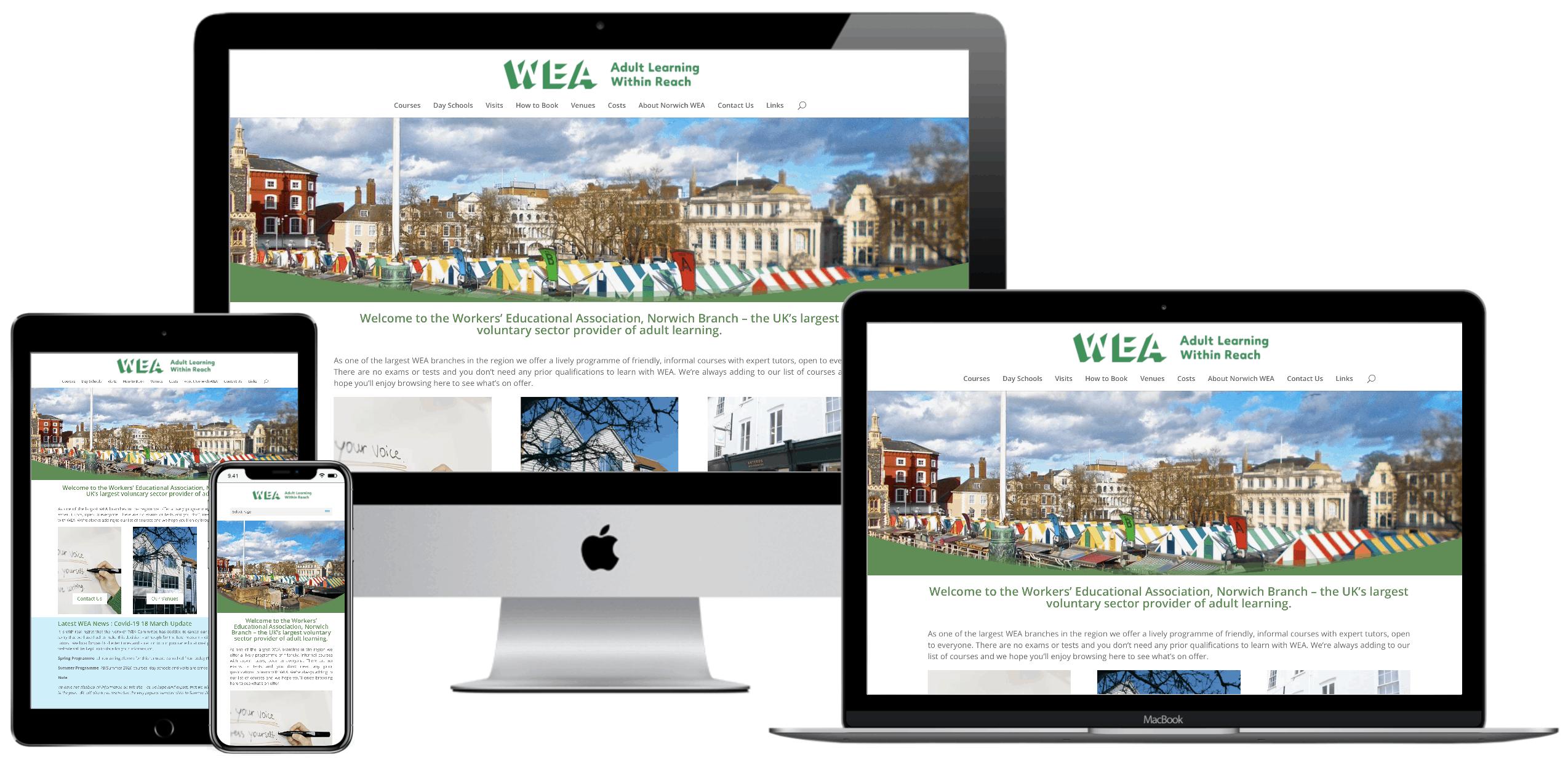 WEA Norwich Website Redesign Project