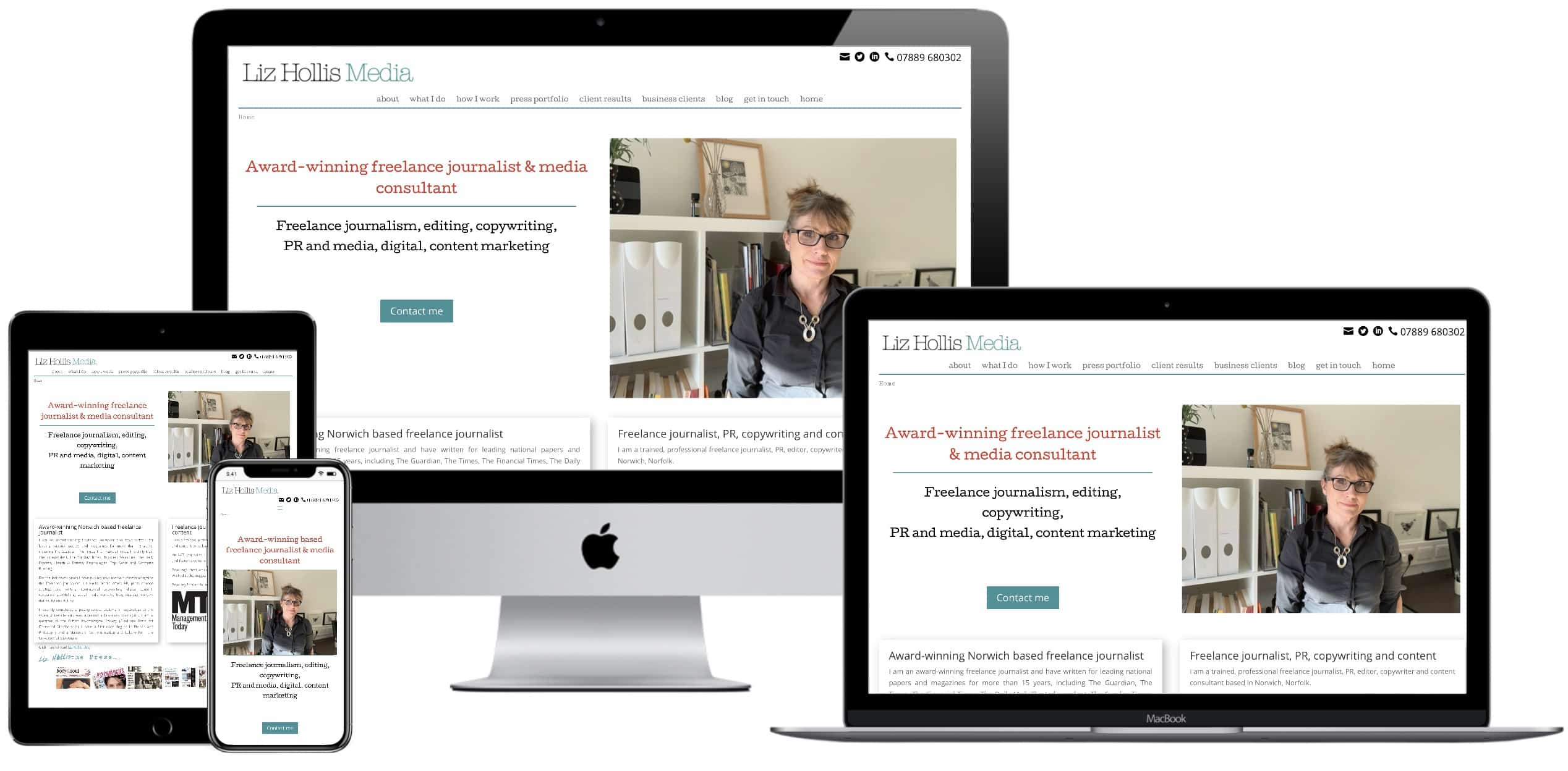 Liz Hollis Norwich Website Redesign Project