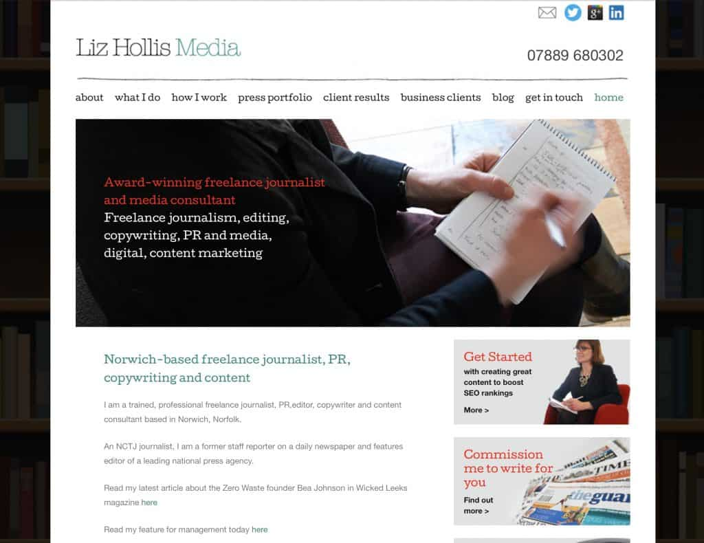 Liz Hollis old website